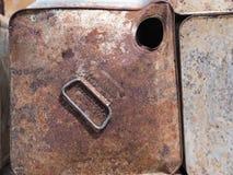 La vieille pile rouillée en acier pour réutilisent image stock