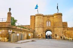La vieille porte dans la citadelle du Caire, Egypte images libres de droits
