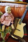 La vieille poupée appelle la sortie Photographie stock libre de droits
