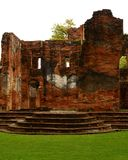 La vieille résidence principale Lopburi de Chambre de Wichayen d'architecture de brique fournissent la Thaïlande image stock