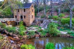 Vieux moulin, en hiver Image stock