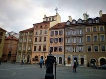La vieille rue, Lodz, Pologne photos stock