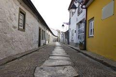 La vieille rue, Viana font Castelo, Portugal Image libre de droits