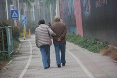 La vieille silhouette de couples Images libres de droits