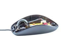 La vieille souris noire est ouverte Photographie stock libre de droits