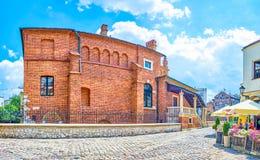 La vieille synagogue à Cracovie, Pologne images stock