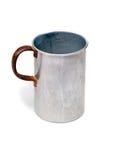 La vieille tasse en aluminium Photographie stock libre de droits