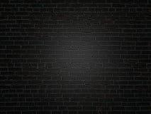 La vieille texture de mur de briques de noir foncé image libre de droits