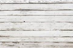 La vieille texture en bois blanche avec le fond naturel de modèles Image libre de droits