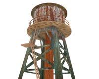 La vieille tour d'eau rouillée Photo stock