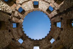 La vieille tour en pierre Image libre de droits