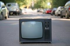 La vieille TV Photo stock