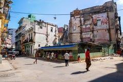 La vieille vie de Havana City photographie stock