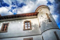 La vieille villa a établi fin 1800 s en Sardaigne Photographie stock libre de droits