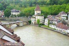 La vieille ville de Berne de Nydeggbruecke Berne étrange Photo stock