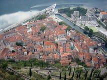 La vieille ville de Kotor Images libres de droits