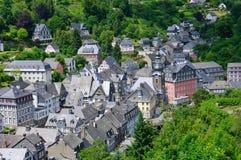 La vieille ville de Monschau en Allemagne images libres de droits