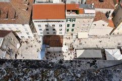 La vieille ville (diplômé de Stari) dans la fente, Croatie Photo stock