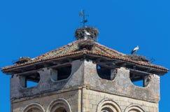 La vieille ville merveilleuse Ségovie, Espagne images libres de droits