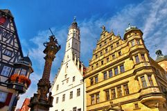 La vieille ville Rothenburg en Allemagne photo libre de droits