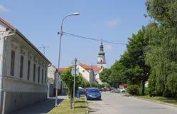 La vieille ville slovaque Modra de vignes Photo libre de droits