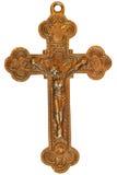 La vieja cruz del metal Foto de archivo libre de regalías