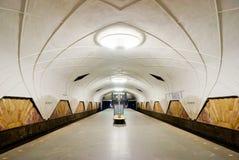 La vieja estación de metro Aeroport en Moscú. Foto de archivo