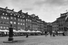 La vieja plaza del mercado de la ciudad. Varsovia. Polonia Imagenes de archivo