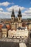 La vieja plaza es un lugar histórico en la Praga, Checo Republi Imagen de archivo libre de regalías