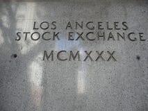 La vieja señalización de la bolsa de acción de Los Angeles ilustración del vector