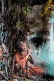 La vieja señora india Imagen de archivo