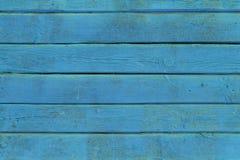 La vieja textura de madera azul con los modelos naturales Fotos de archivo