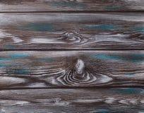 La vieja textura de madera azul con los modelos naturales foto de archivo