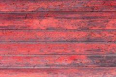 La vieja textura de madera roja con los modelos naturales Foto de archivo