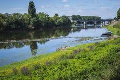 La Vienne river near L'Île-Bouchard Royalty Free Stock Images
