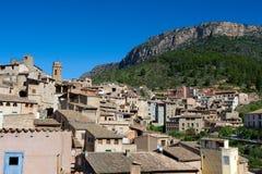 La Vilella Baixa (亦称Vilella Baja), Priorat (亦称Priorato),卡塔龙尼亚,西班牙 免版税库存图片