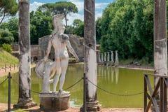 La villa de Hadrian dans Tivoli image libre de droits