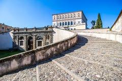 La villa Farnese dans Caprarola, Italie Images libres de droits