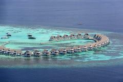 La villa sulle Maldive Fotografia Stock Libera da Diritti