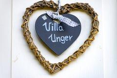 La villa Unger Heart Images libres de droits