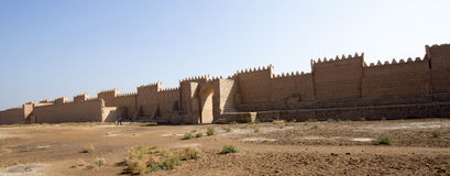 La ville antique de Babylone Photo libre de droits