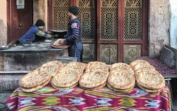 La ville antique de Kachgar, Chine Images libres de droits