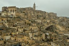 La ville antique de Matera Photo stock
