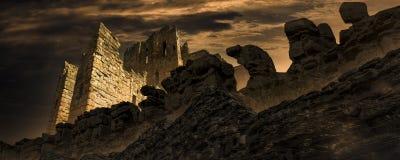 La ville antique de la postluminescence image libre de droits