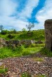 La ville antique Gortys Gortyna est située dans la vallée de la rivière de Lousios dans l'Arcadie de Péloponnèse Grèce images libres de droits