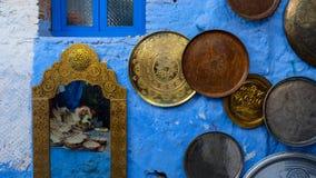 La ville bleue de Chefchaouen, Maroc Image libre de droits