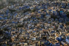 La ville bleue du Mehrangarh Mehran Fort, Jodhpur, Ràjasthàn, Inde photo stock