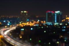La ville brouillée a tiré montrer la grille électrique et le grand planni urbain Photo libre de droits