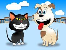 La ville choie les animaux domestiques et les canines d'expositions Image stock