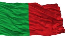 La Ville City Flag, Belgio dei Fosses, isolato su fondo bianco Royalty Illustrazione gratis